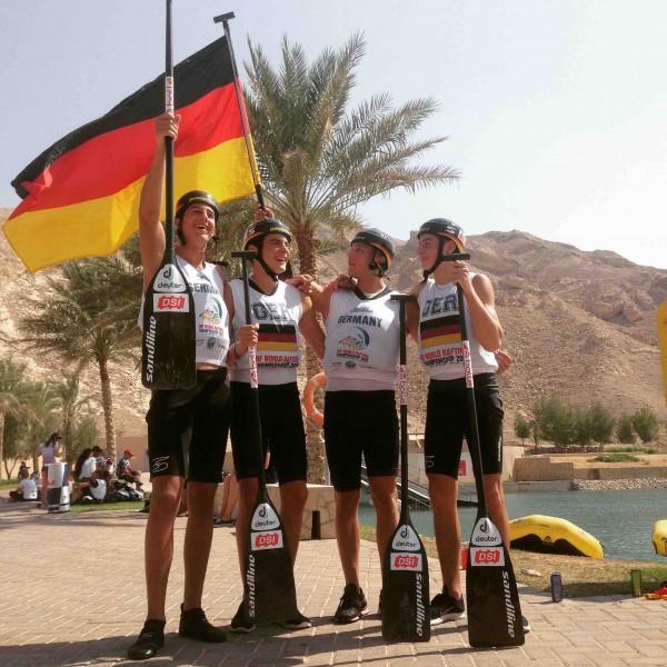 Bayern sorgen für Gold bei Rafting-WM in Al Ain