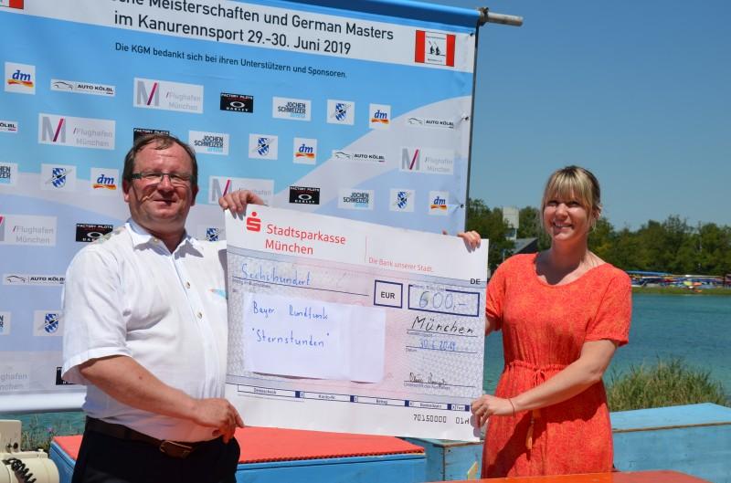"""Spendengelder vom Kanu & Outdoor Testival 2019 an """"Sternstunden"""" übergeben"""