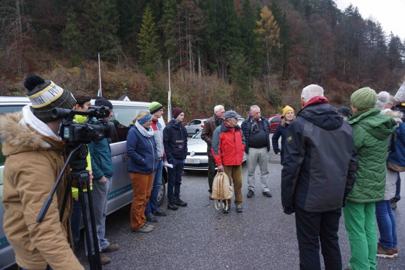 Pressetermin gegen die Kraftwerksbauten im Berchtesgadener Land